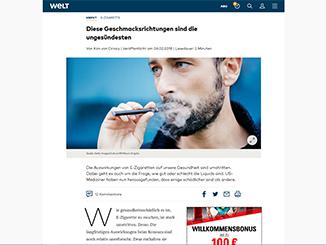 E-Zigarette, Liquid, Aromen, Aroma, giftig