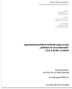 Rechtsgutachten von Prof. Dr. Liesching