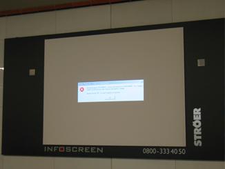 Werbe Probleme in der Berliner U-Bahn