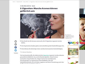 Die Süddeutsche und die E-Zigaretten