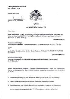 Urteil des Landegricht Hamburg