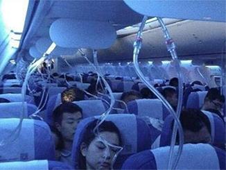 Bewusstlose Passagiere des Fluges
