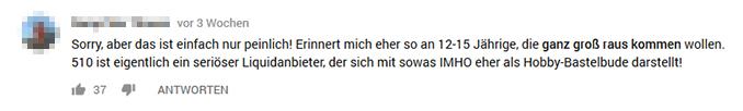 YouTube Kommentar